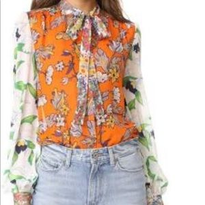 Authentic Tory burch  Floral  blouse